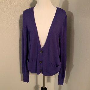 NWT halogen purple cardigan